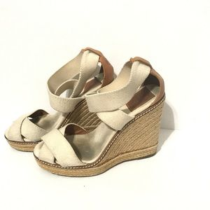 Tory Burch Adonis Espadrille High Wedge Beige 7